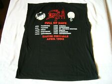 DEATH – ultra rare old original 1993 FULL OF HATE... europe TOUR T-Shirt! metal
