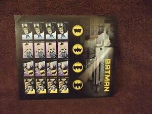 Batman DC Comics Sheet of 20 Mint Never Hinged Forever Stamps Scott 4928-35