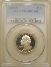 1980-S Washington quarter PCGS PR-70-DCAM proof deep cameo PERFECT