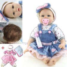 "Bambole Reborn Baby Doll 22"" Doll Vinyl Kids Girl Playmate Doll Xmas Gifts"