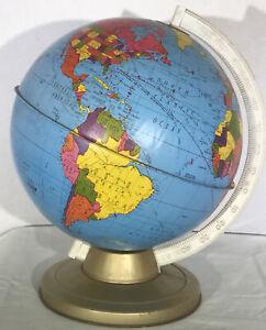 Vintage 1960's Ohio Art Model D-174 World Globe mcm mid century modern