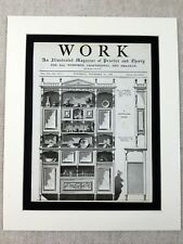 More details for 1890 print victorian aesthetic movement wall cabinet design antique original