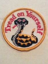 NOS Vintage Patch Tread On Yourself Peace 70s Hot Rat Rod Motorcycle VW Hippie