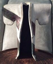 Raku Studio Art Pottery Standing Kimono Robe Signed w/ Umbrella Symbol