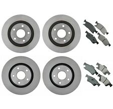 For Dodge Durango Jeep Grand Cherokee Front & Rear Disc Brake Rotors & Pads Kit