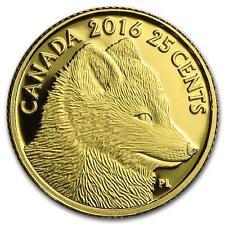 2016 Canada Traditional Arctic Fox Predator vs Prey 25 Cent 9999 Pure Gold Coin
