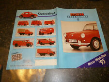 Ancien Catalogue Miniatures Brekina Automodelle 1/87e
