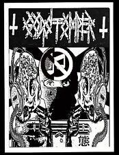 GODSTOMPER BACK PATCH NOISE IRON LUNG SPAZZ INFEST GRINDCORE NAPALM DEATH CRUST
