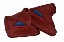 FITS BMW E36 E46 GAITER SET REAL LEATHER CALYPSO RED M3