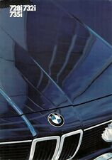 BMW 7-Series E23 1982 UK Market Foldout Sales Brochure 728i 732i 735i SE