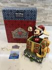 "Jim Shore ""Holiday Cheer"" Mickey Stocking Holder #4023538 W/Box RARE & HTF"