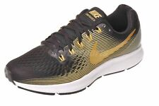 Nike W Air Zoom Pegasus 34 (Wide) Running Womens Shoes Black Gold 880561-009