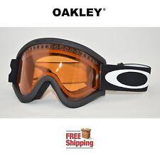 OAKLEY® E FRAME® SNOW GOGGLES DUAL LENS SNOWBOARD SKI MATTE BLACK PERSIMMON NEW