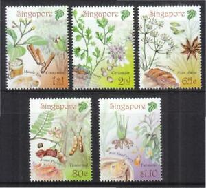 SINGAPORE 2011 SPICES OF SINGAPORE COMP. SET OF 5 STAMPS IN MINT MNH UNUSED