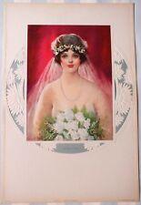Original 1920's*Frank Desch*Salesman Sample*Calendar *Flapper Girl *Bride*Evelyn