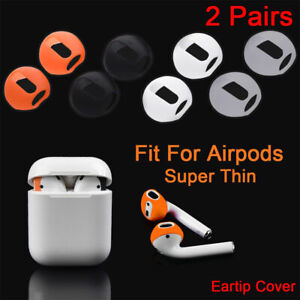 2 Pairs Earbud Anti-Slip Earphone Tips Silicone Case Cover For AirPods Earpods