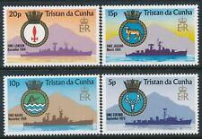 1977 TRISTAN DA CUNHA SHIPS CRESTS SET OF 4 FINE MINT MNH