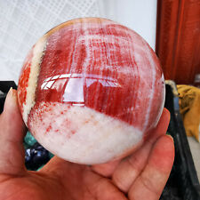 1090g Natural Rhodochrosite Quartz Sphere Crystal Ball Reiki Healing