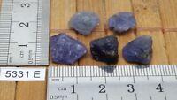 Lot TANZANITES pierre brute TRES RARE ! mineraux lithotherapie reiki brut