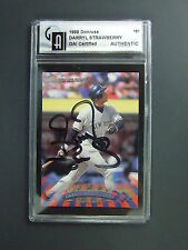 Darryl Strawberry Signed 1998 Donruss GAI Authentic New York Yankees Autographed
