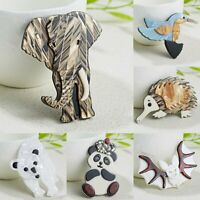 Fashion Acrylic Animal Elephant Bear Brooch Pin Women Wedding Costume Jewelry