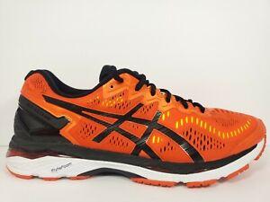 Asics Gel Kayano 23 Mens Size 11 Running Shoes Orange Black White Green T646N