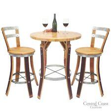 WINE BARREL Stave BISTRO SET Rustic Furniture Bar Pub Napa FREE SHIPPING!