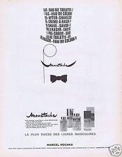 """Publicité Advertising 026 1967 Marcel Rochas """"Moustache""""  ligne masculine"""