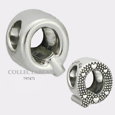 Authentic Pandora Sterling Silver Letter Q Bead 797471