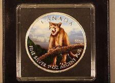 2012 Canada 1oz.Silver Colored UNC Cougar w/Box&COA   ** FREE U.S. SHIPPING **