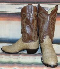 Mens Vintage Justin Tan Exotic Hide / Leather Cowboy Boots 10 D Good Used Cond