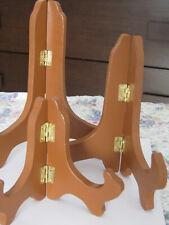 Plate Stand Wooden Gold Brown Display Easel Holder Bowl Photo Frame multiple siz