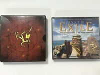 Riven and Myst Exile 3 III  PC CD-ROM game 9 disc set 2 Complete Games
