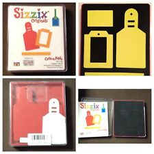 Sizzix Die Luggage Tags #1 Layered  Originals Scrapbook Diecut Retired NEW Tag