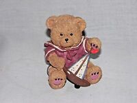Nautical Resin Detailed Brown Bear figurine Playing with His Sailboat