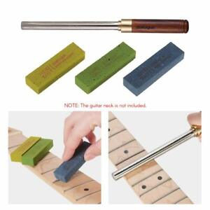 3XGuitar Fret Polishing Erasers+Guitar Fret Dressing Metal File w/ 3 Size Edges