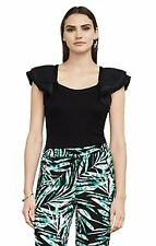 Bcbg Maxazria  MIrabelle layered sleeves  Black Top