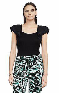 Bcbg Maxazria  MIrabelle layered sleeves  Black Top