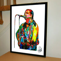 U2 Bono Framed Canvas Art Picture Poster Print Ready To Hang