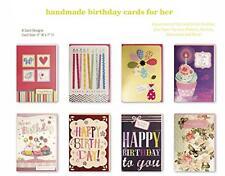 Birthday Cards Assorted Handmade Embellished Cards Box Set Bulk Assortment for H
