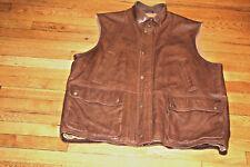 Orvis Leather Vest Brown  Mens XL