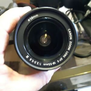 Canon Zoom Lens EF-S 18-55mm 1:3.5-5.6 barely used