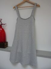 Ladies Lovely Brave Soul Grey Marl~White Striped Thigh Summer Dress Size M,Bnwt