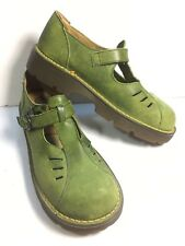 DR MARTENS Air Wair Green Suede Leather Mary Jane Shoe US 9 UK 7 Made In England