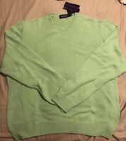 Vtg Polo Ralph Lauren Purple Label Cashmere Sweater 2XL XXL 100% Cashmere $758