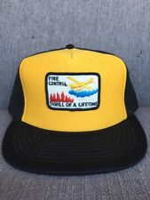 Vtg Fire Control Water Bomber Snap Back Hat 1980's Thrill Of A Lifetime Fighting