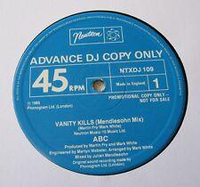 """ABC - Vanity Kills (Mendlesohn Mix) - Advanced DJ Promo 12"""" Vinyl - Beauty!"""