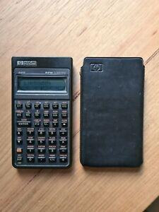 HP 42S Scientific Calculator with leather case (read description)
