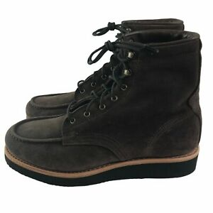 NEW Timberland Vibram Men's American Craft Moc Toe Leather Boots Brown US10 $365