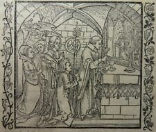 ALBRECHT DÜRER INKUNABEL 2x HOLZSCHNITT 1493 Der Ritter vom Turn Teufel Gebet